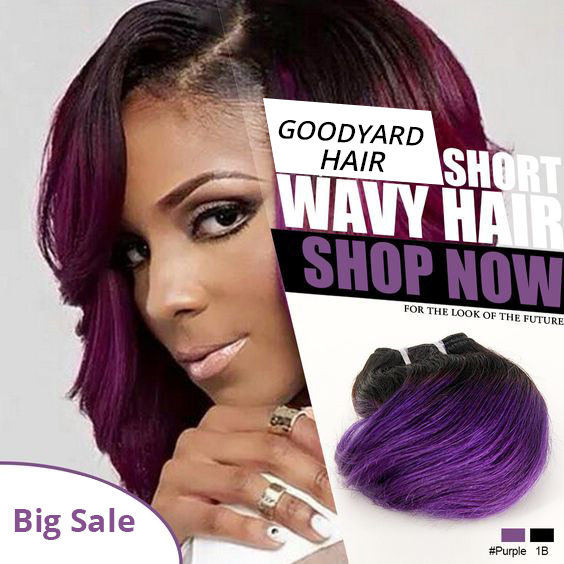 Super Sale Cheap Ombre Hair Bundles Short Wavy Human Hair Extension