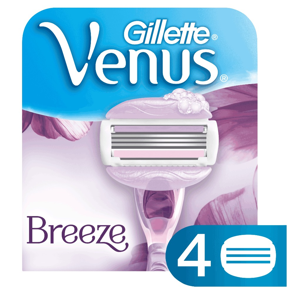 Removable Cassette Gillette Venus Breeze Convenient Chave Gel Bars Replaceable Razor Blades Blade For Women Shaving Razors 4 pcs 2018 new usb charge waterproof electric shaver for men rechargeable intelligent 3d head shaver razor beards trimmer shaving machin