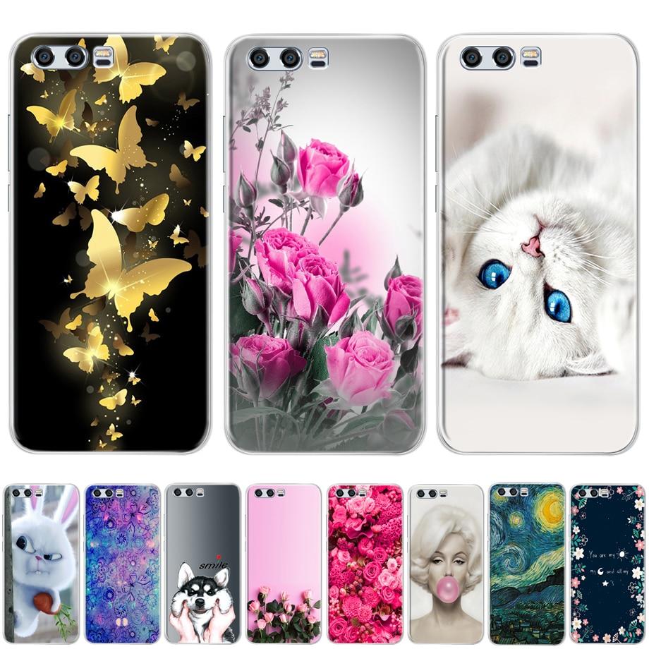 Чехол для Huawei Honor 9 модные, мягкие, силиконовые чехлы для телефонов для Huawei Honor 9 крышка ТПУ печатных защитных чехлов на Honor 9