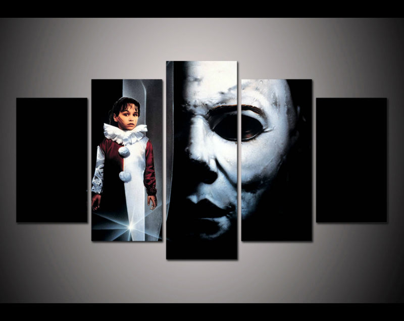 printed unframed halloween michael myers horror picture poster home decor wall art print halloween coloring canvas - Michaels Halloween Decorations