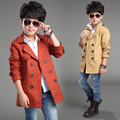 2017 Sping Autumn Children Trench Coat Boys Medium Casual Windbreaker Jacket Kids Double Breasted Leisure Clothes Outerwear G730