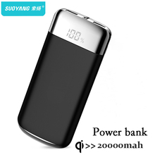 20000mah Power Bank External Battery PoverBank 2 USB LED Powerbank Portable Mobile phone Charger for Xiaomi MI iphone X Note 8