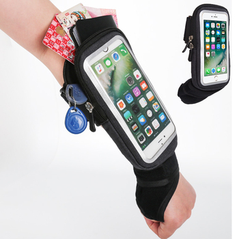 Haissky Cycling Wrist Bag Running Armband Touch Screen Cell Phone Case On Hand Outdoor Sports Gym Belt Bags Wallet Storage Pouch