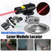 Fokussierbar 648nm 650nm 100 mW Rot Laser Linie Modul Locator Cutter für Holz Stoff Stein Schneiden Mit Adapter und Halterung