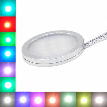 Aiboo RGBW RGB+White LED Under Cabinet Lights Downlight 8 Lamps with IR Remote Control Dimmable for Kitchen Decoration Lighting