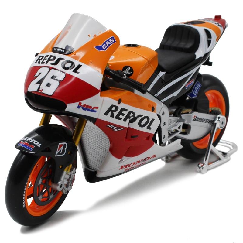 1:10 Maisto Motorcycle Toy Alloy & ABS Yamaha Honda Motorbike Model Racing Motor Miniature Car Models Kids Toys Brinquedos Gift