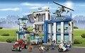Бела 10424 890 шт. Город Полицейский участок строительный блоки Фигурки set вертолет тюремной камере Совместимо с lego