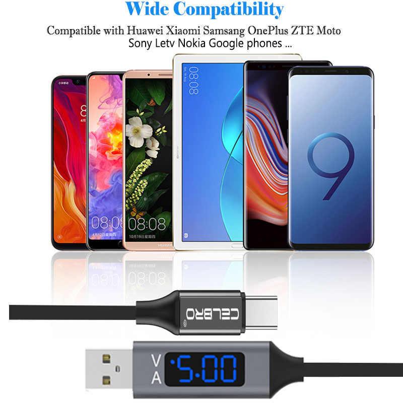 LED Ti mi ng デジタルディスプレイ Usb タイプ C ケーブル急速充電 3.0 急速充電器 Cavo シャオ mi mi 9 8 6 Huawei 社 P20 プロ充電カベル