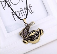 Hot Anime Tokyo Ghoul 5pcs/lot Kaneki Ken Bronze Pendant & Necklace High Quality Personality Jewelry Christmas Gifts