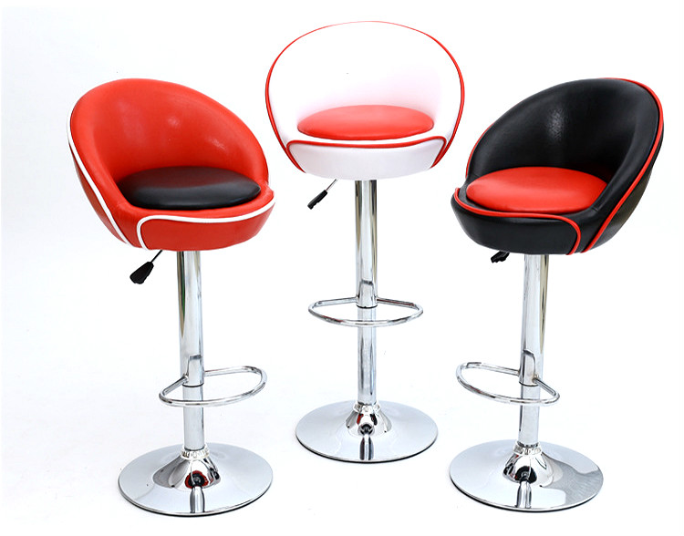 Lifting Swivel Bar Chair Rotating Adjustable Height Pub Bar Stool Chair With Footrest Simple Design High Quality Cadeira