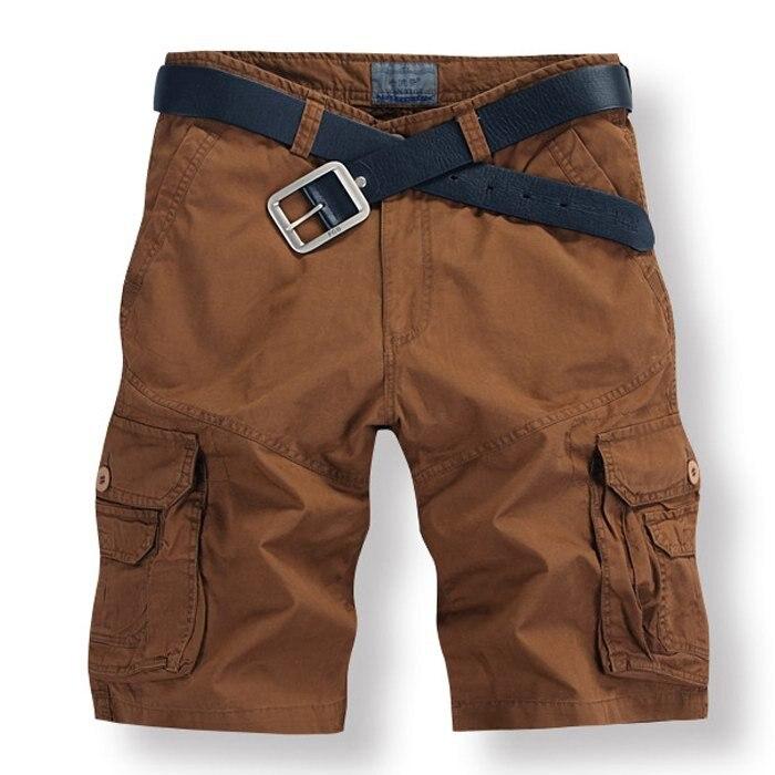 Summer Cotton Mens Shorts Baggy Multi Pocket Casual Short Pants Men Military Zipper Cargo Shorts Breeches Mens Tactical Short