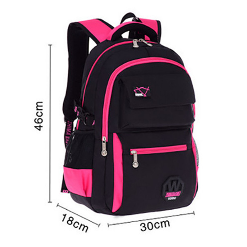 Fashion High Quality Students Backpacks School Bags Waterpfoof Schoolbag Kids Book Bag for Boys / Girls Children Backpacks
