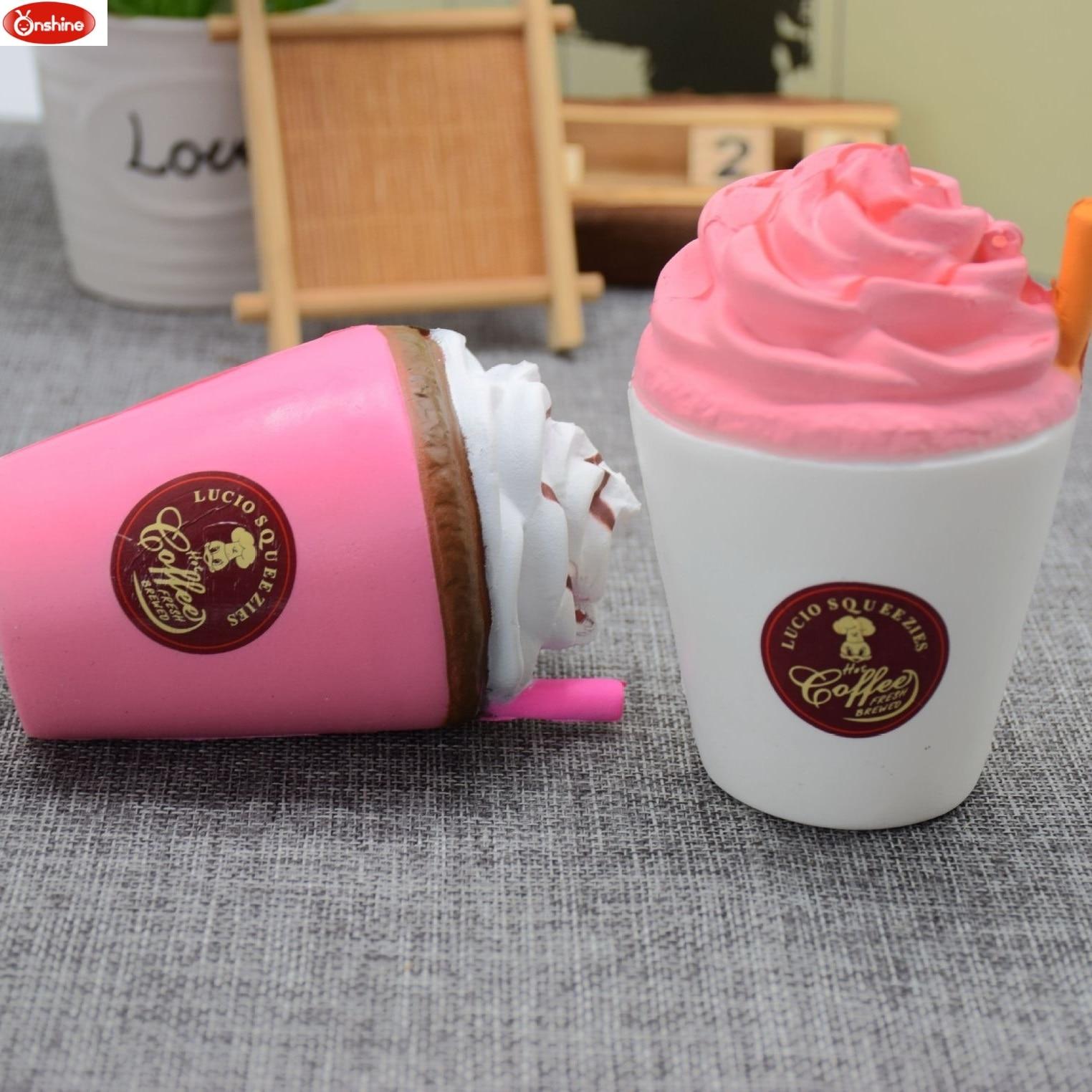 जंबो प्यारा कॉफी कप शीतल - नवीनता और मजेदार खिलौने