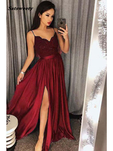 Bridesmaid Dresses Long Spaghetti Strap Lace Satin Elegant Formal Party Gowns Sexy Side Split Prom Gowns Robe De Soiree люстра vitaluce v1072 8