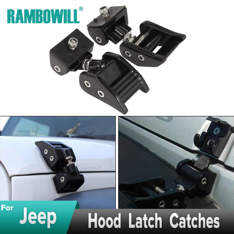 2Pcs Hood Catch Lock Latch Buckle Holder Duokon Hood Catch