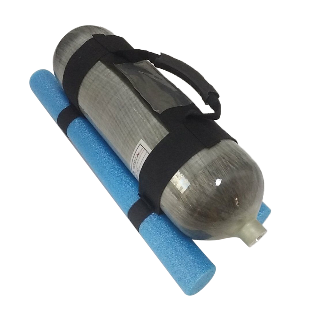 AC8001 Scuba Air Tank Blue Handle For 6.8L Condor Pcp Compressed Air Rifles Cylinder Composite Without Cylinder For Diving