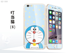 Japan Doraemon Dreamy Anti shock Front Tempered glass Screen Protector Back printed Skin Sticker Cover for