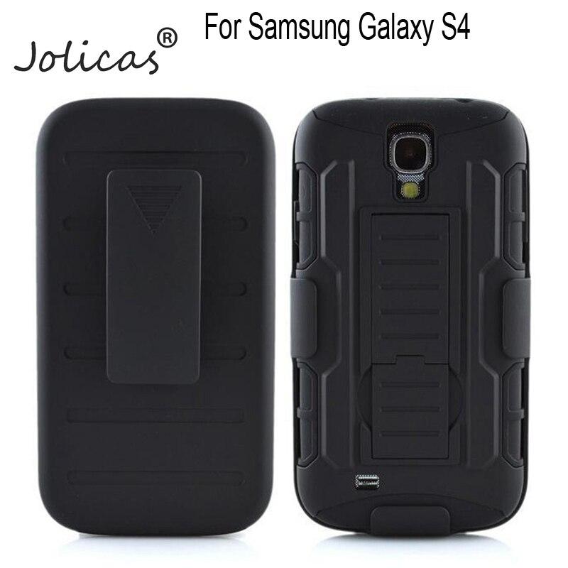 Heavy Duty Cas Pour fundas Samsung Galaxy S4 Cas S4 SIV i9500 9500 5 pouce Pour coque Samsung S4 Cas + ceinture Clip samsg