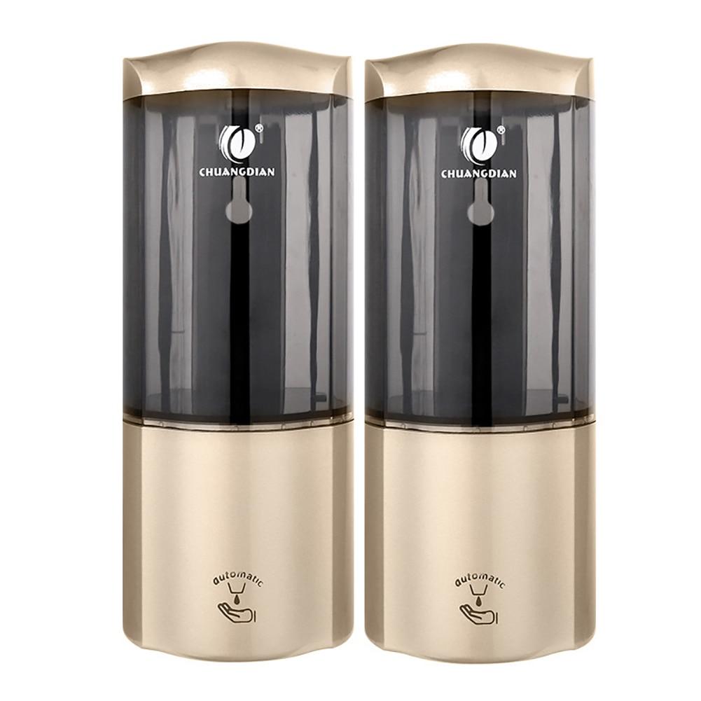 Nova chegada Luxuoso 2 pcs 500 ml inteligente Wall Mount Sensor INFRAVERMELHO Automático Cozinha Banheiro Distribuidor da Loção do Sabão gota grátis - 4