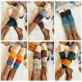 1PCS Retail Fashion Multi Colour Stripes Knitted Leg Warmers for Women Boot Socks Polainas Gaiters Feminino High Leg Warmer