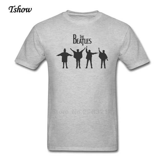 The Beatles Logo Vector Tshirt Man Leisure Summer Print Crew Neck Mans Tops Pure Cotton Tee