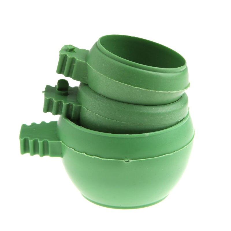 1 шт. попугай Еда воды Bowl Подачи мини Пластик птицы голуби клетке песок Feeding Cup