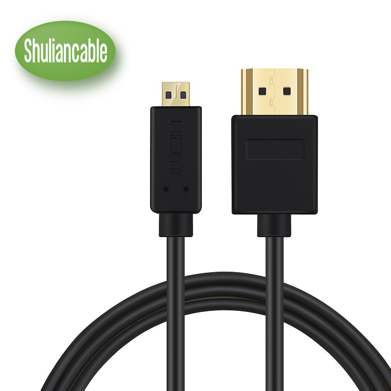 Shuliancable High-Speed HDMI to Micro HDMI (A-D) HDTV Cable Supports Ethernet, 3D, 4K and Audio Return 1M 1.5M 2M 3M ultra slim profile white hdmi cable 1m 2m 3m 5m 10m high speed with ethernet supports hdmi version 1 4 1 4a 1 3 compatible