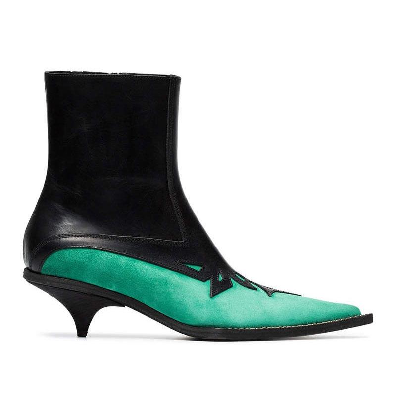 Sexis Show Botas Zapatos Tallada Piel Moda Punta As Retazos Caballero Gamuza Marca Tobillo De Mujer Puntiaguda Tacón Chelsea Nuevas Con Hw5FdqHa