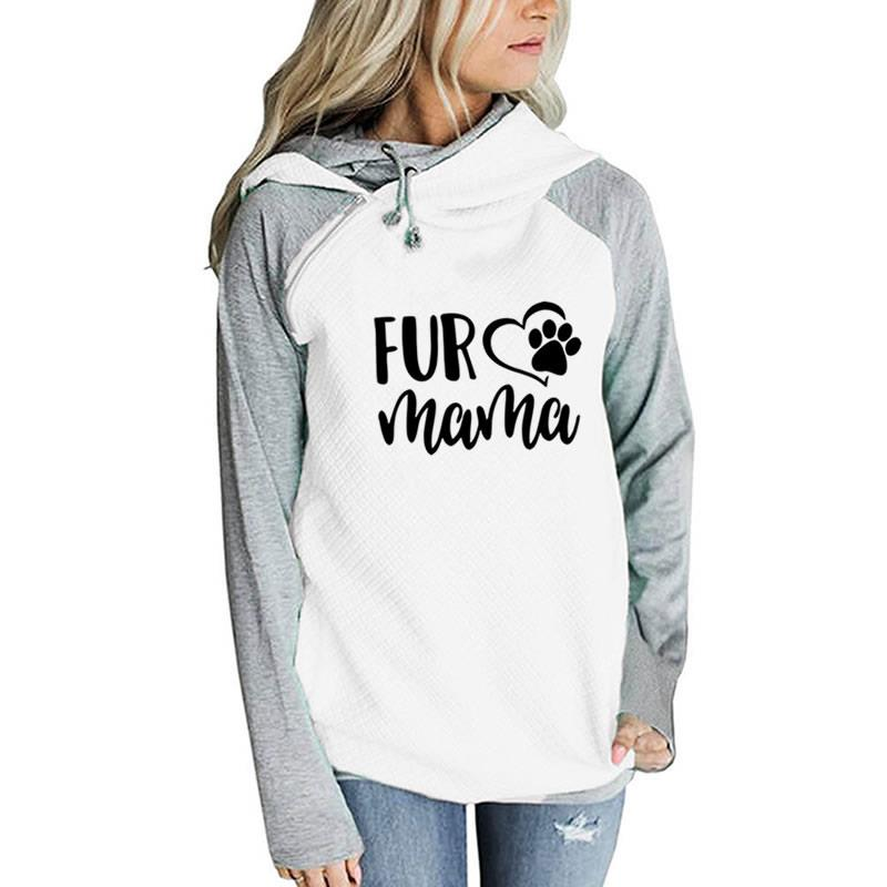 Dropshipping New 2019 Hot Selling New Fashion for Mama Print Tops Hoodies Women Kawaii Print Thick Female Autumn and Sweatshirts
