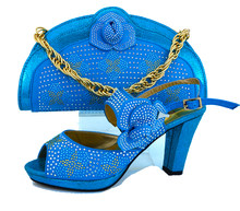2017 shoes matching clutches evening bag with stones flowers SB8029 high  quality italy turquoise shoes and bag set for party d7362c10c67b
