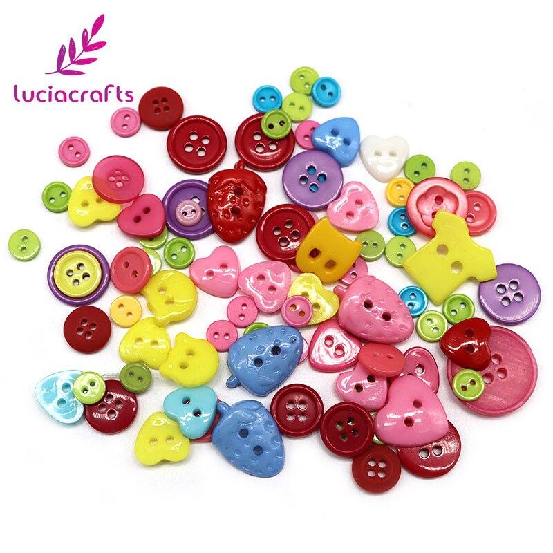 Lucia crafts Appr: 20 г смешанный произвольно деревянные пуговицы из смолы DIY Швейные плоские с оборота пуговицы, аксессуары для одежды E0102 - Цвет: style 5