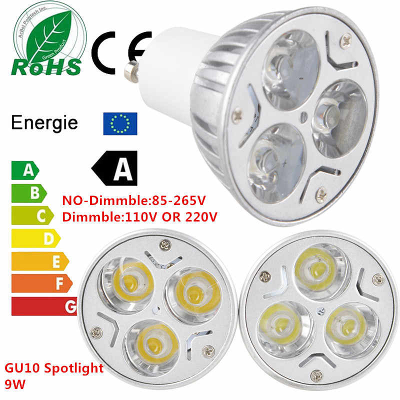 1PCS New Dimmable LED GU10 9W  EPISTAR LED 110V 220V Warm White/ Pure White/Cool White/ Spotlight  Lamp Bulb LIGHTING