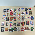 40 pcs/Bag Non-Repeated  Mixed Brands Skateboard Stickers Offset Print Matte Film Skate Stickers Travel Case Stickers