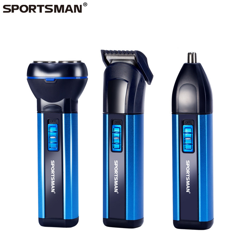Men's 3 In 1 Electric Shaver Nose Hair Trimmer Razor Beard Mustache Grooming Shaving Machine Navalha Eyebrow Trimer Nose Trimer