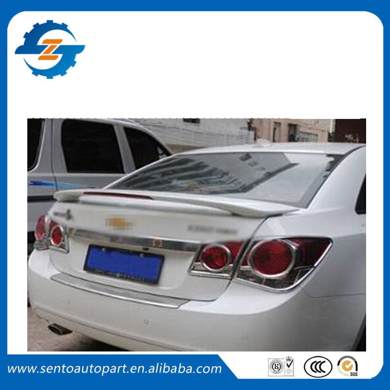 Top Quality ABS Unpainted Color Rear trunk Spoiler Fit For Cruze spoiler With Light