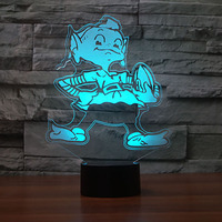 Creative Colorful 3D Led Night Lights Cartoon Rugby Modelling Atmosphere Gradients Living Room Decor American Football