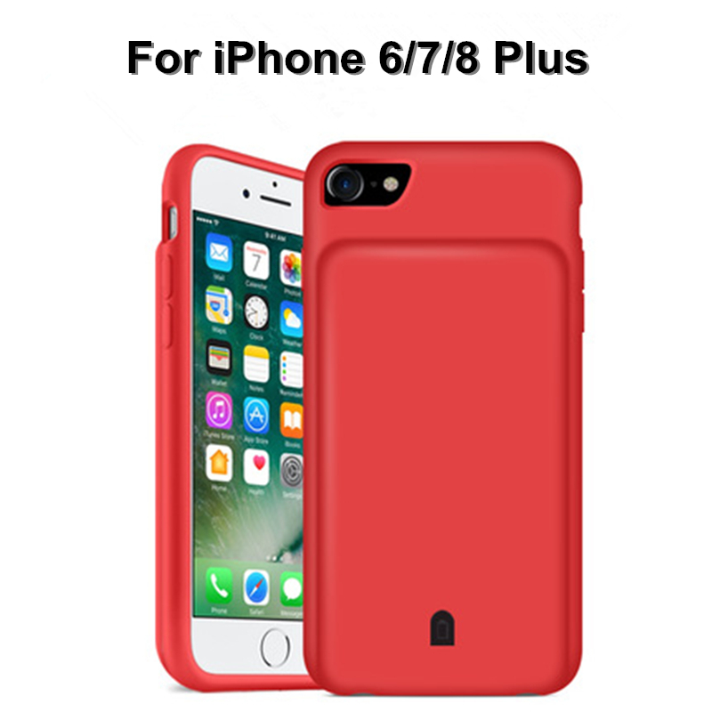 External <font><b>Battery</b></font> Charger <font><b>Cases</b></font> For <font><b>iPhone</b></font> 7 8 Plus <font><b>6</b></font> 6S Plus Portable Backup Power Bank <font><b>Case</b></font> For <font><b>iPhone</b></font> 8 7 <font><b>6</b></font> 6S <font><b>Battery</b></font> <font><b>Case</b></font> image