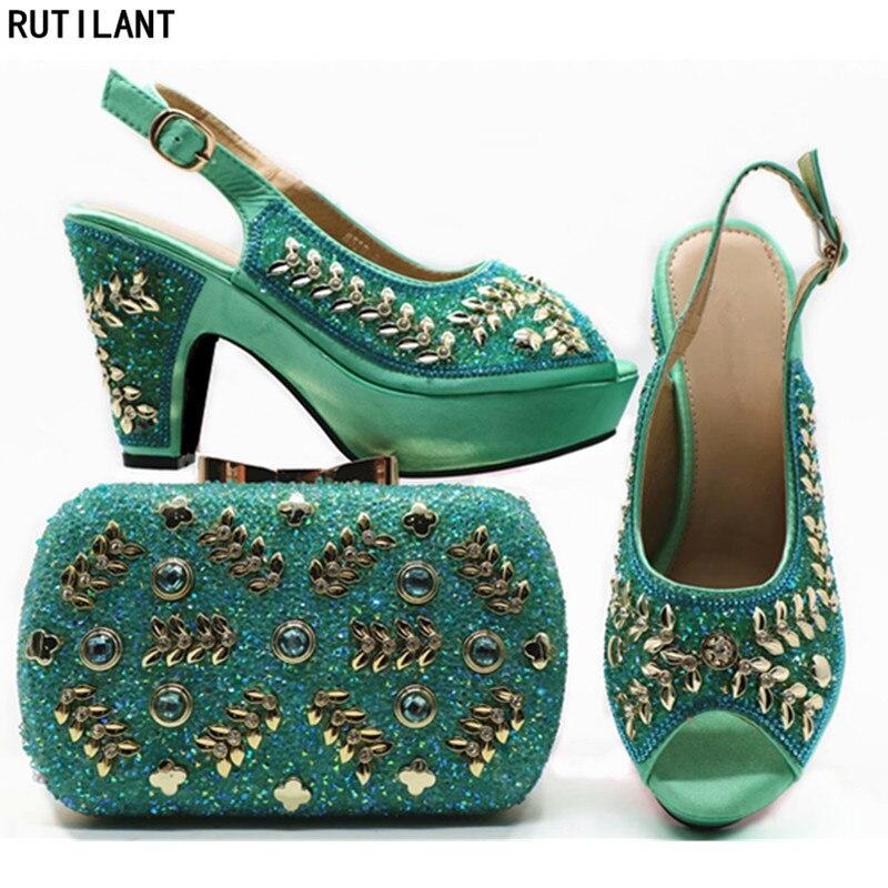 Mis Nouvelle Dans Ventes Black Sac pourpre Africain Femmes Et Sacs Arrivée En Italien or Assorties vert Ensemble Chaussures rose Italie q4wOFq