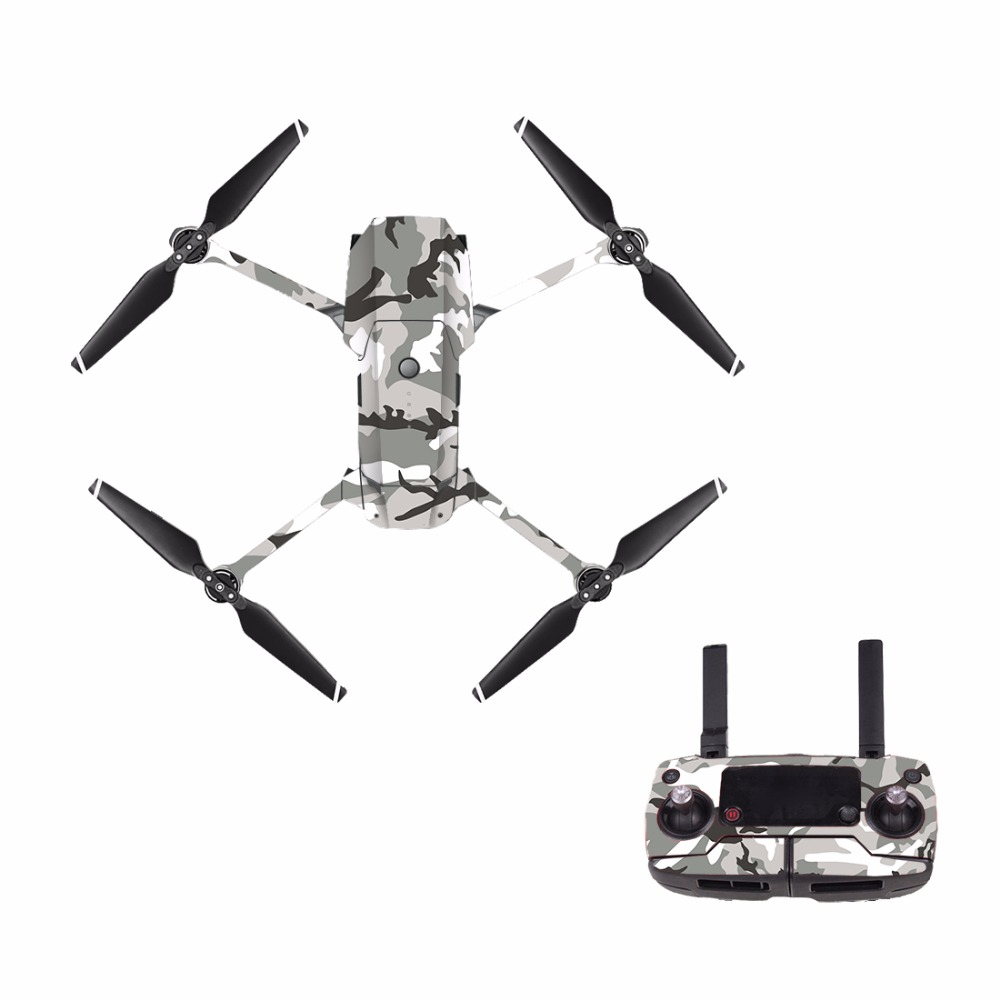 [M0019] Camouflage For DJI Mavic Pro Decal Skin Sticker Drone Body + Remote Controller + 3 Battery Protection Film Cover