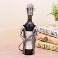 Unique Metal Firefighter Statue Wine Bottle Stand Decorative Iron Art Fireman Barware and Tableware Ornament Craft Accessories