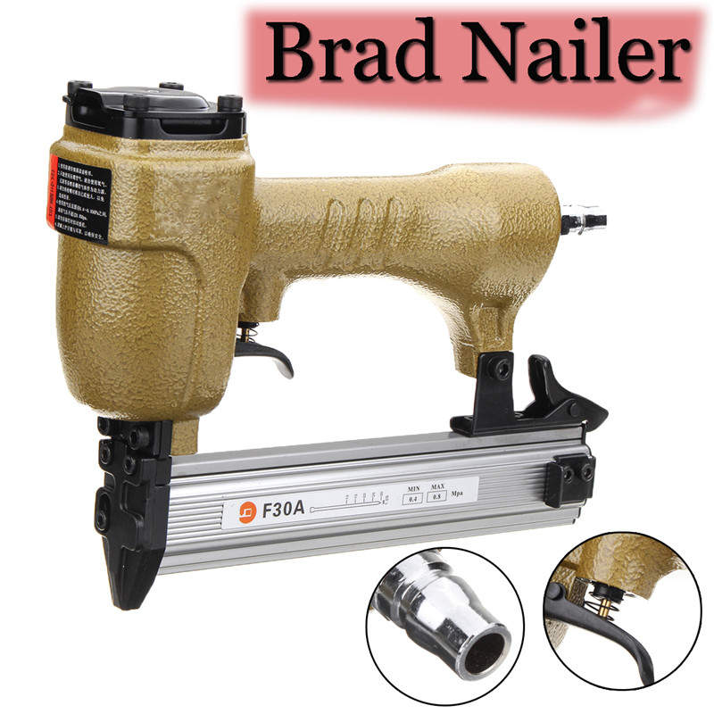 цена на 60-100PSI Brad Straight Nailer Nail G un Pneumatic Air Tools For Home Decorating Power Tools Nail Gun