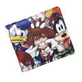 Free Shipping Anime Folding Wallet/Kingdom Hearts Sora High Quality Short PU Purse