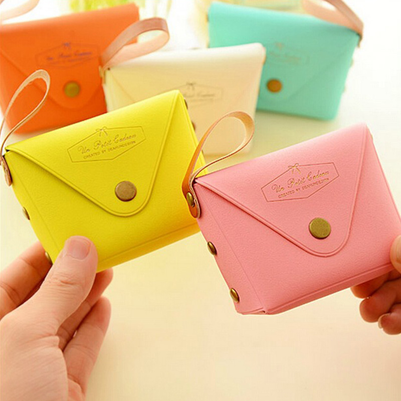 RU&BR RU&BR New Fashion Women Leather Coin Purse Cute Candy Color ...