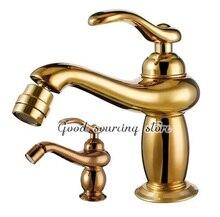Высокое качество пол, смонтированный золотой/роза золотой туалет, смеситель для биде