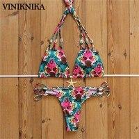 VINIKNIKA Popular Shells Handmade Bracelet Bikini Original Printing Bathing Suit Hot Selling Swimwear Summer Women Bikini