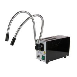 AmScope 150 W włókna światłowodowe podwójny gęsiej szyi oświetlacz dla mikroskopy HL250-BY