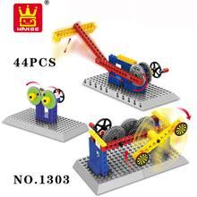 Wange Blocks Mechanical Speed Variable Principle Crown Gear Model Building Blocks For Children Scientific Learning Toys