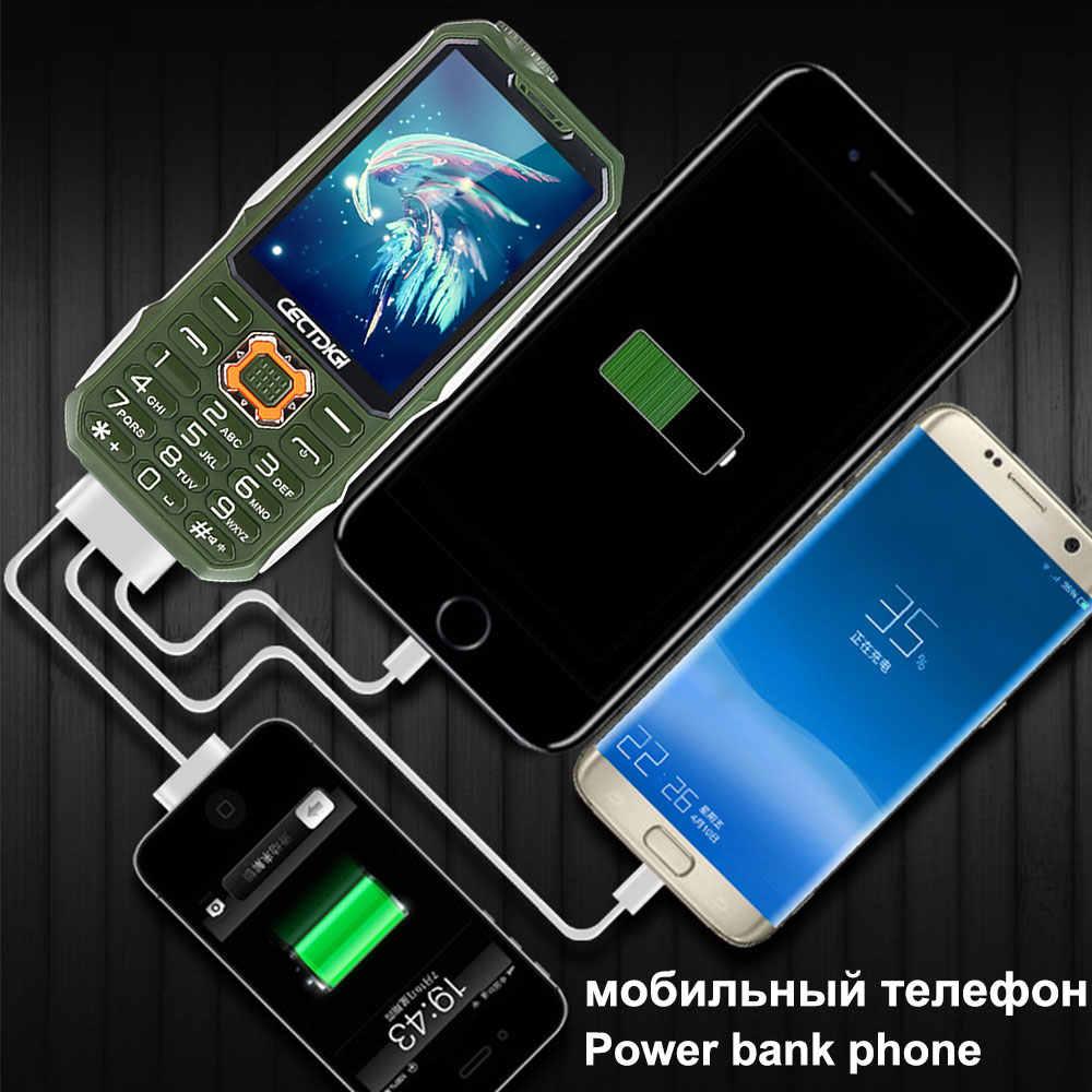 Ba SIM thẻ 2.8 inch Chống Sốc điện thoại 3 SIM thẻ 3 chế độ chờ điện thoại di động Cectdigi T19 Ngân Hàng Điện GSM Đèn Pin nga Bàn Phím