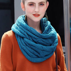 cc кашемир зимний женский шарф снуд для женщин 2018 теплый вязанный шарфы женские, объемный мягкий шарф-снуд в два оборота,приятный к