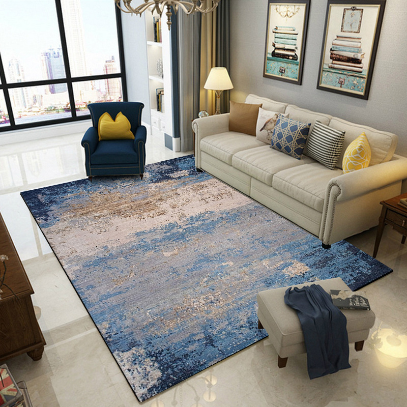 Modern Abstract Blue Gray Carpets And Rugs For Living Room Bedroom Hallway Doormat Anti-Slip Bathroom Decor Carpet Kitchen Mats